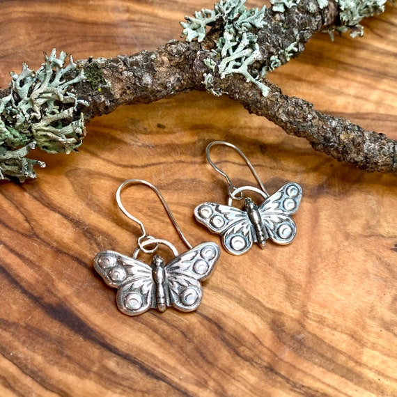 Sweetest little butterfly earrings in fine and sterling silver