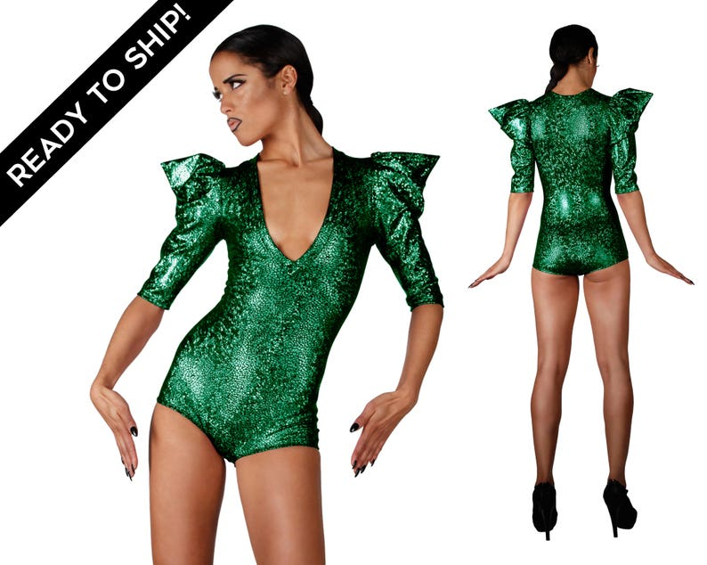 f5061c113f Signature Bodysuit Holographic Green Poison Ivy Costume