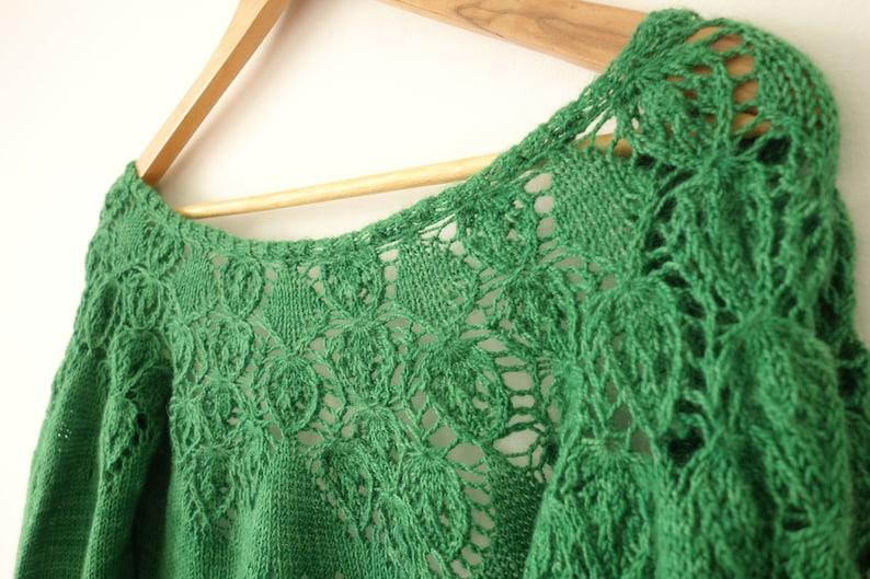 PATTERN Lace Cardigan Knitting Pattern / Cropped Cardigan image 1