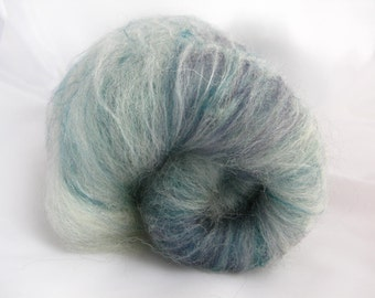 Shetland Merino Silk Batts 100g Teal/Luxury Spinning Fiber/ Blue Spinning Fiber/Felting Wool