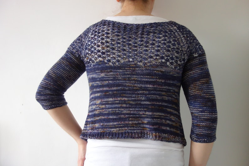 PATTERN lace cardigan pattern / cropped cardigan knitting image 0
