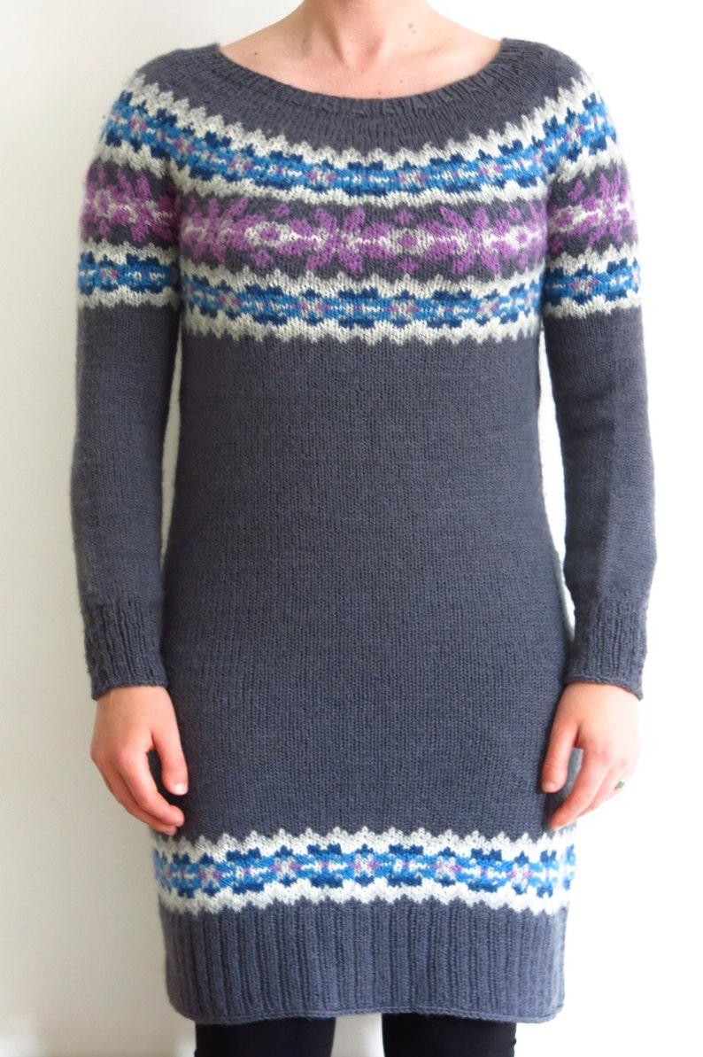 99680880e PATTERN Fairisle Sweater Dress Knitting Pattern PDF   Knitted Dress Pattern    Jumper Dress Knitting Pattern   Color Knitting Pattern
