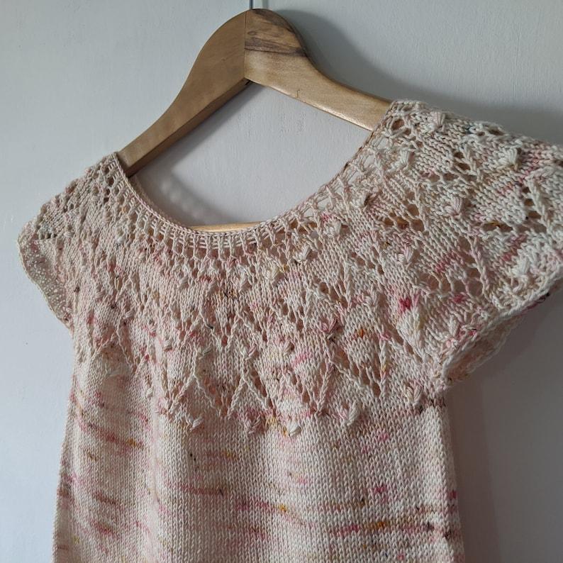 PATTERN Lace Crop with Loveheart Pattern Knitting Pattern image 0