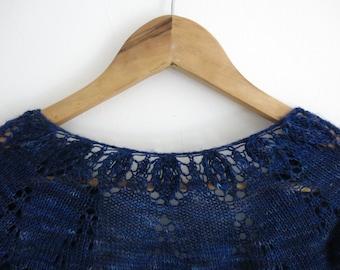 PATTERN Lace Cropped Cardigan Pdf Knitting Pattern / Shrug Knitting Pattern / Bolero Knitting Pattern / Lacy Knit