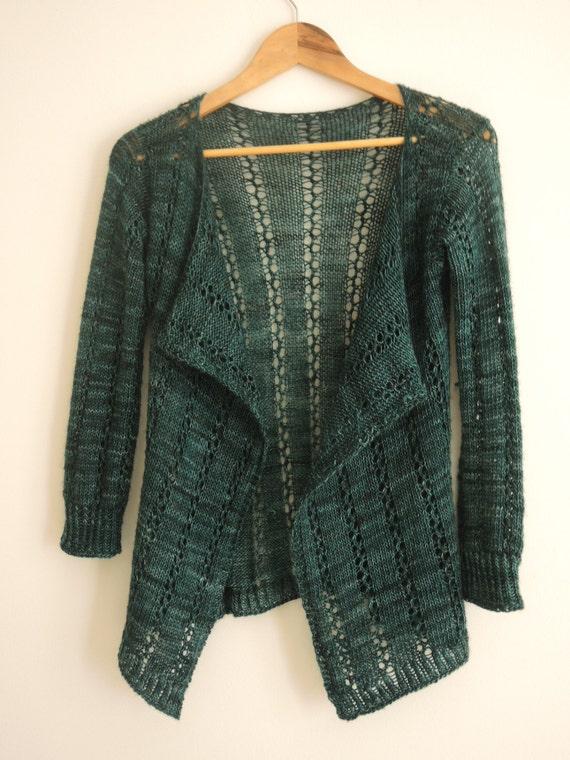 Knitting Pattern Cardigan Easy Lace Knitting Pattern Pdf Etsy