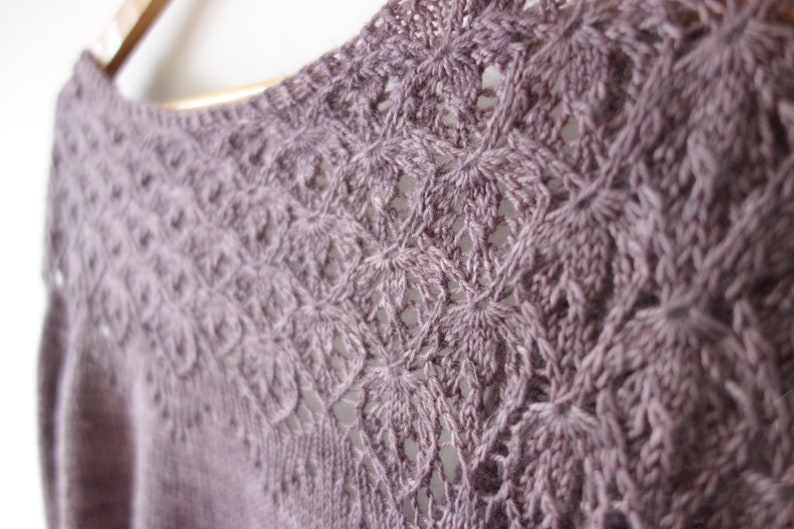 Lace Cardigan Knitting Pattern PDF / Top Down Cropped Cardigan image 0