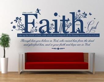 Your Beauty In Gods Sight 1 Peter 3:4 Bible Vinyl Wall Art Decal Sticker Q77