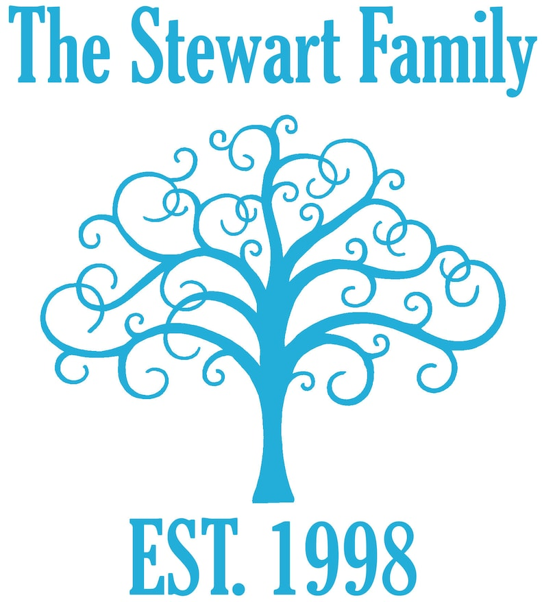 Personalised Family Tree Vinyl Wall Art Sticker Decal Mural Living Room Established Wall Decor Hallway Home