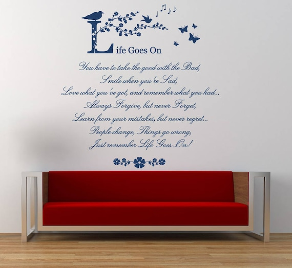 Because Someone We Love Quote Wall Art Sticker Vinyl Decal Transfer Mural
