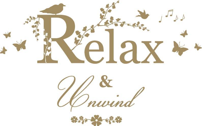 Bathroom Relax /& Unwind Quote Home 3D butterflies Wall Decor Lounge Vinyl Wall Art Sticker Decal Mural