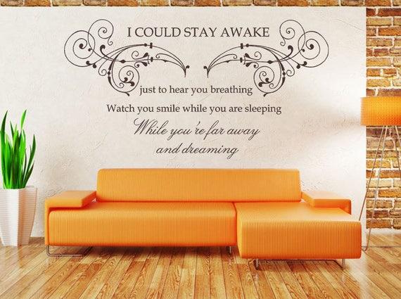Quote Large WALL STICKER Bedroom Art, Extra Large BREATHING AEROSMITH