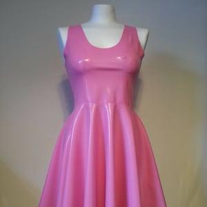 Custom Text Latex Dress Sleeveless Latex Swing Dress Personalised Clothing