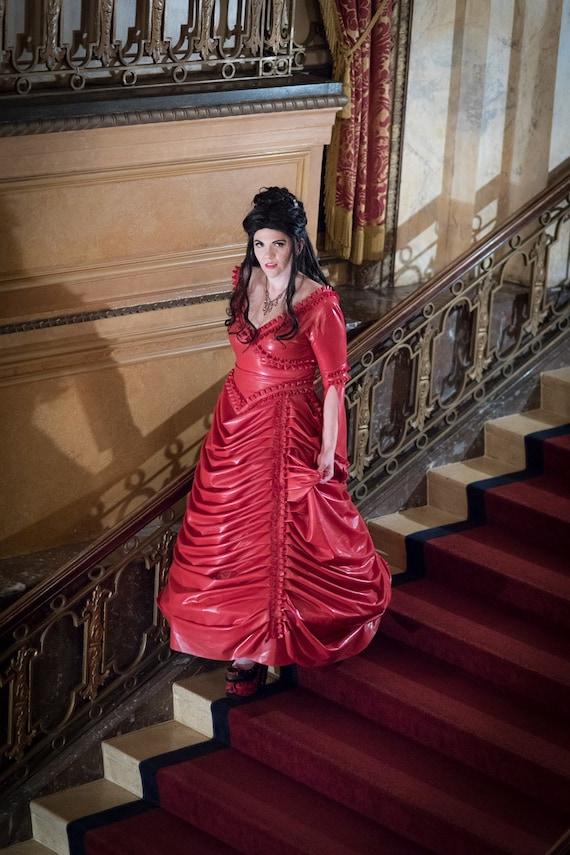 Latex Dress Latex Steampunk Victorian Ball Gown | Etsy