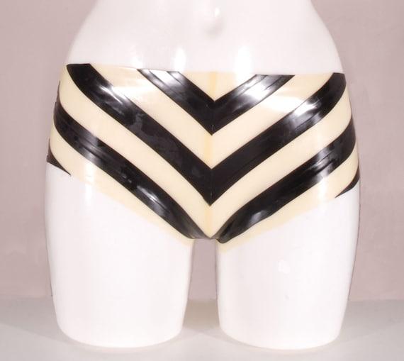 Translucent latex panties
