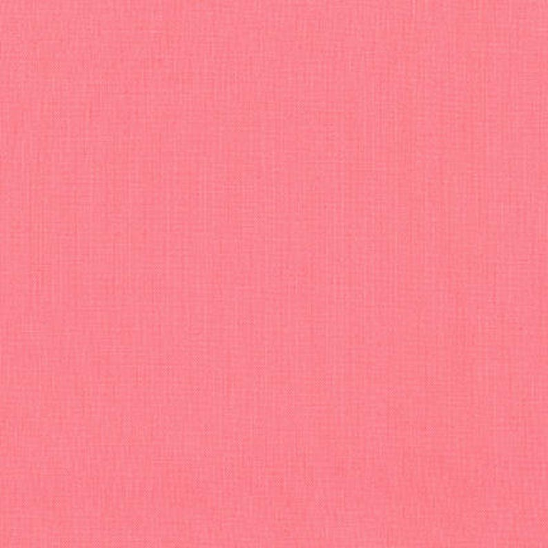Melon Kona Cotton Robert Kaufman Fabrics Pink Fabric Half image 0