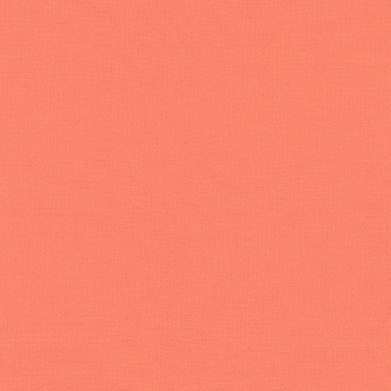 Salmon Kona Cotton Fabric Half Yard image 0
