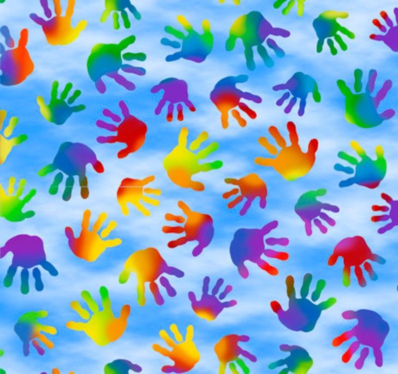 Jesus Loves The Little Children Quilting Treasures Fabrics image 0