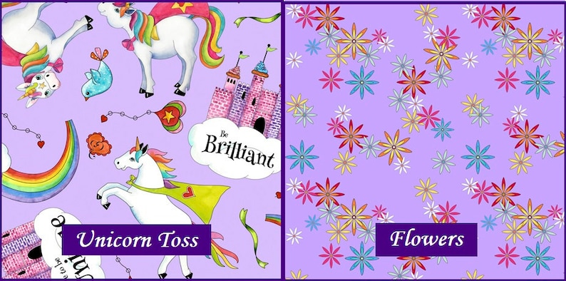 Party Like A Unicorn Flowers Unicorns Quilting Treasures image 0