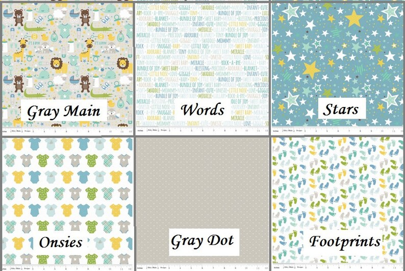 Sweet Baby Boy Stars Words Footprints Dots Animals Baby image 0