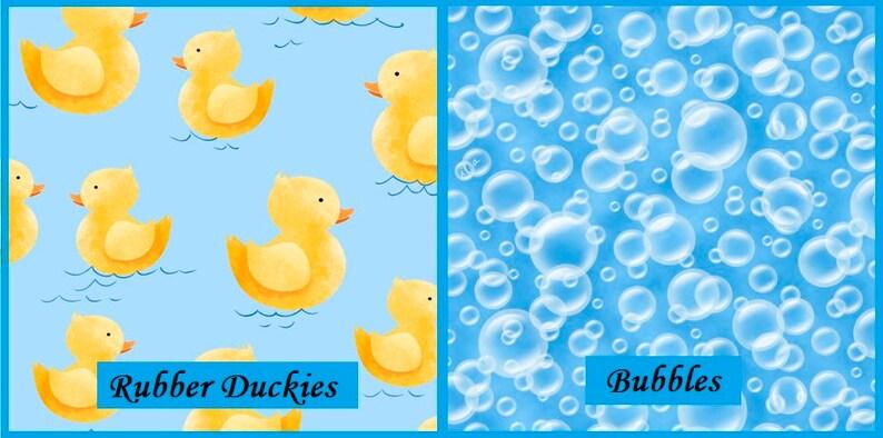 Quackers Rubber Duckies Bubbles Quilting Treasures Fabrics image 0