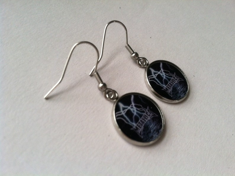 Metallica Stainless Steel Earrings Ear Wires Handmade Lighter Weight