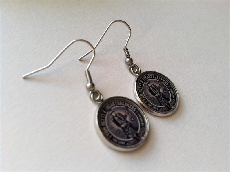 Lightweight Tom Petty and the Heartbreakers Earrings Ear Wires Handmade