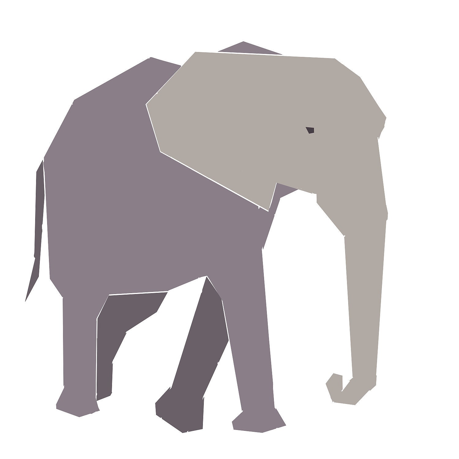 African Elephant paper-piecing quilt pattern PDF