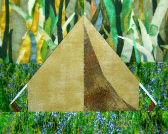 Camping Tent paper-piecing quilt pattern, PDF