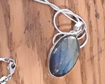 Oval  Labradorite necklace Pendant