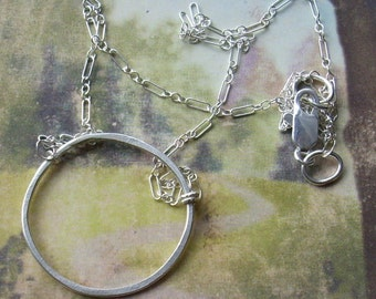 Eternal Circle Necklace in Sterling Silver  S201