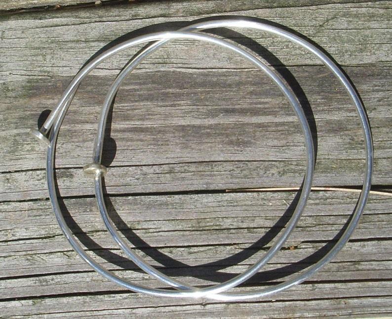 Sterling Silver Nail Spike Bangle Bracelet