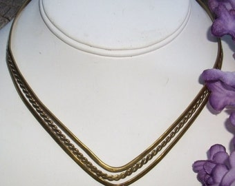 Beautiful Gold Tone (brass) Neck Cuff 100