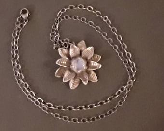 Moonstone in Sterling Silver Flower