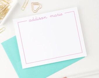 Personalized stationery set // Personalized stationery for girls  // personalized stationary // Thank you cards // Kids stationery, KS015