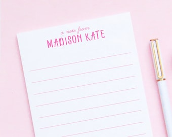 Personalized Lined Notepad For Girls, Personalized Notepad for Kids, Notepads for Kids Personalized Notepad Lined Stationery Paper, NP081