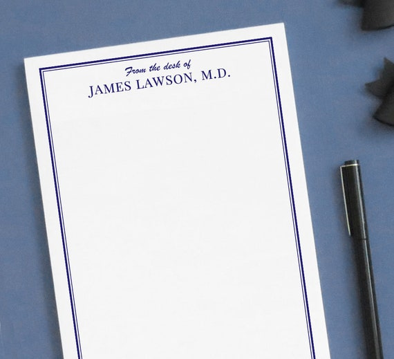 from the desk of notepad personalized notepad for men etsy
