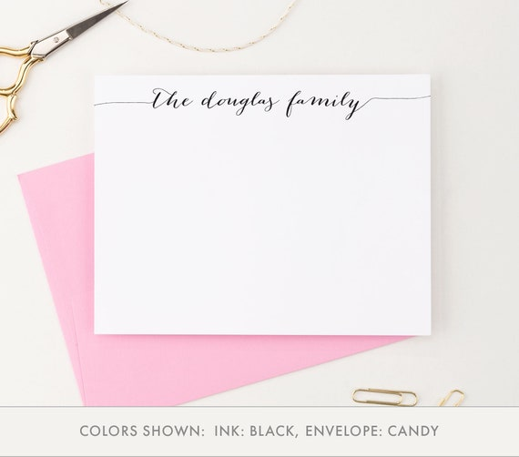27 Personalized Stationery Templates: Personalized Family Stationery Custom Family Stationary