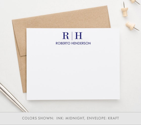 Personalized Letter Stationary Set, Monogrammed Stationary cards, Monogram  Stationary Set, Letter Stationery set, Custom Stationery, MS037