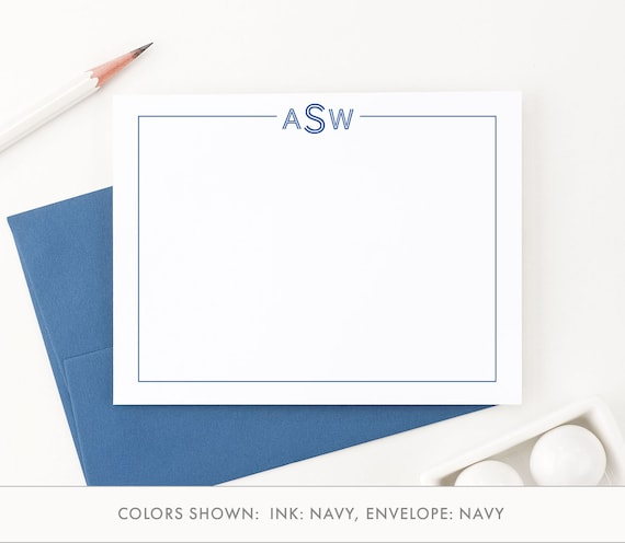 from the desk of stationary set monogrammed stationery set