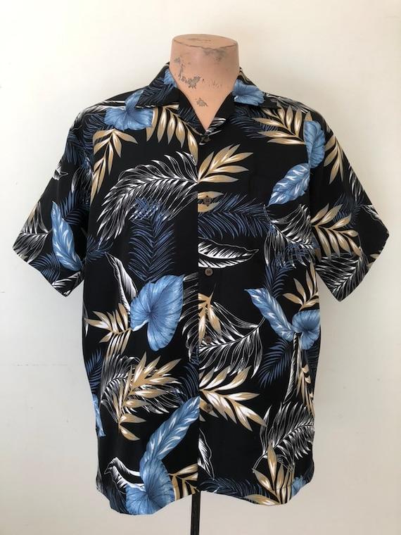 Vintage Wild Leafy Hawaiian Shirt