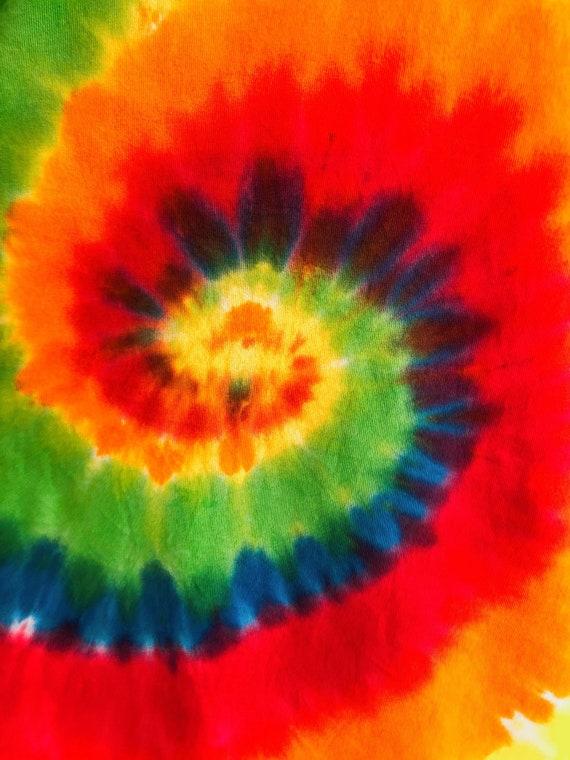 Guitar print rainbow tie-dye T-shirt - image 9