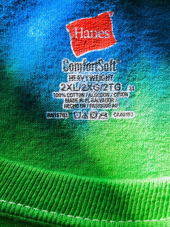 Guitar print rainbow tie-dye T-shirt - image 10