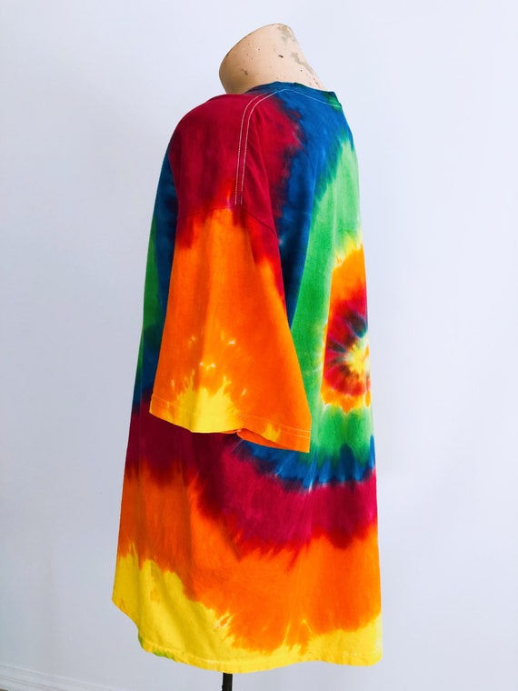 Guitar print rainbow tie-dye T-shirt - image 7
