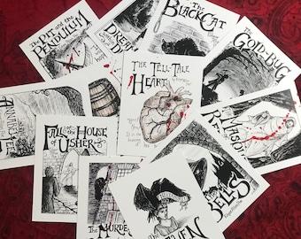 Edgar Allan Poe: Postcard Variety Pack