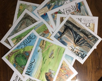 Postcard Set- Greetings from Middle-Earth