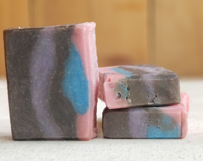 "Birthday Cake Scented ""Tamora"" Soap Goddess Loves Shakespeare Soap, vegetarian, lightly scented, yogurt soap, free shipping"