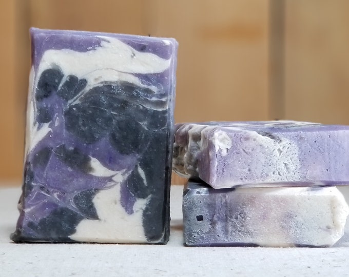 "Lavender Vanilla Scented Soap ""Ariel"" Soap Goddess Loves Shakespeare Soap, handmade vegetarian, lightly scented, yogurt soap, free shipping"