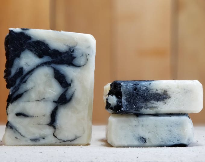 Oh Shea Can You See Facial Soap - Shea and Activated Charcoal unscented facial Soap, Handmade, Vegan, Vegetarian, Bar, Cleansing Bar