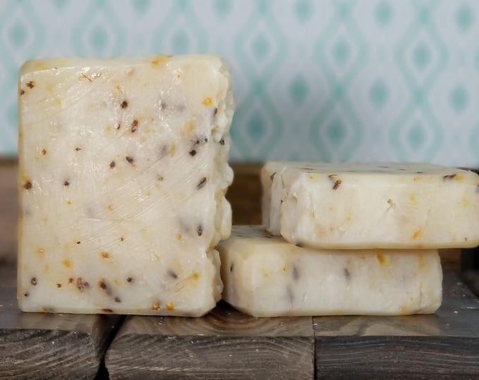 Lavender Lemonade Soap -- All Natural Soap, Handmade Soap, Essential Oil Soap, Hot Process Soap, Vegan Soap, Barely-Scented Soap, Lavender