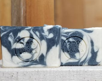 "Smoke & Mirrors Scented Soap ""Hamlet"" Soap Goddess Loves Shakespeare Soap, handmade vegetarian, lightly scented, yogurt soap, free shipping"